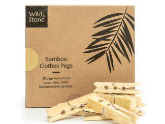 UK distributor Wild Stone Sustainable lifestyle products zero waste Bamboo Laundry Pegs Biodegradable Vegan