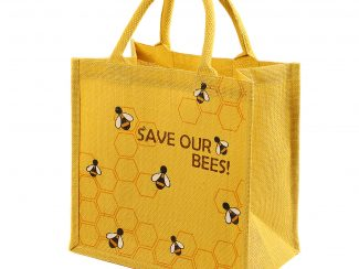 UK Distribution shared earth eco shopper jute bag save our bees