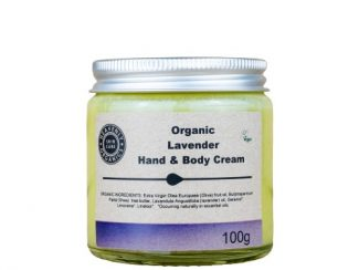 UK distributor Heavenly Organics organic hand body cream lavender sustainable eco