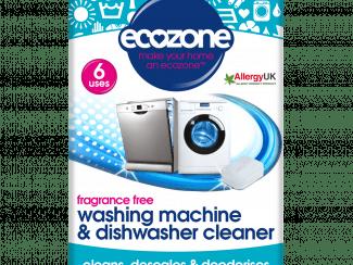 UK Distribution EcoZone washing machine & dishwasher cleaner tabelts Plastic Free Soluble Wrapper plant based vegan