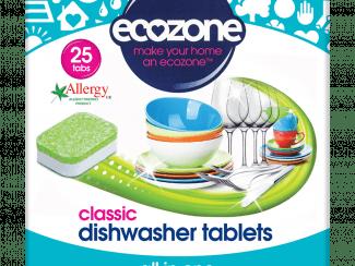 UK Distribution EcoZone dishwasher tabelts Plastic Free Soluble Wrapper plant based vegan