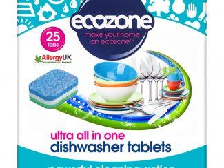 UK Distribution EcoZone dishwasher ulta tabelts Plastic Free Soluble Wrapper plant based vegan
