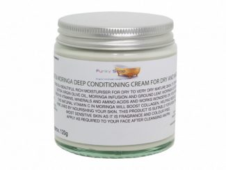 UK distributor FunkysoapShop natural beauty products plasticfree toxinfree olive moringa face cream glass