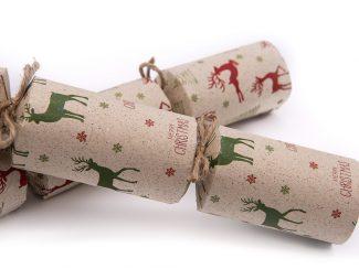 UK distributor Green Planet Paper sustainable christmas crackers reindeer