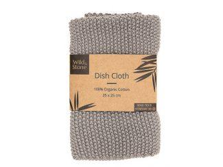UK distributor Wild Stone Sustainable lifestyle products zero waste dish cloth Organic Cotton Dove Grey