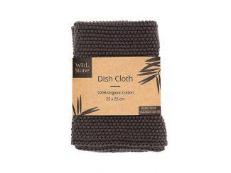 UK distributor Wild Stone Sustainable lifestyle products zero waste dish cloth Organic Cotton slate Grey