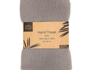 UK distributor Wild Stone Sustainable lifestyle products zero waste hand towels Organic Cotton Dove Grey