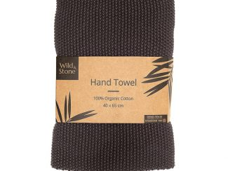 UK distributor Wild Stone Sustainable lifestyle products zero waste hand towels Organic Cotton Slate Grey