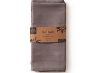 UK distributor Wild Stone Sustainable lifestyle products zero waste tea towels Organic Cotton Set of 2 Dove Grey