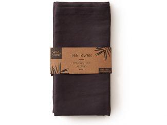 UK distributor Wild Stone Sustainable lifestyle products zero waste tea towels Organic Cotton Set of 2 slate Grey